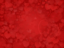 Valentine Background mit Traumherzrahmen Stockfoto