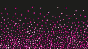 Valentine background with pink glitter hearts. February 14th day. Valentines day heart with pink glitter sparkles. February 14th day. Vector confetti for vector illustration