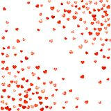 Valentine background with pink glitter hearts. February 14th day. Vector confetti for valentine background template. Valentine background with red glitter hearts Royalty Free Stock Photography