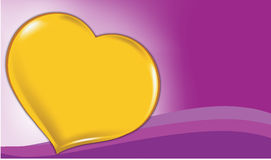 Valentine background. Purple background with hearts and wave Royalty Free Stock Image