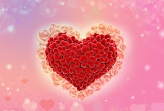 Valentine background red heart sweet pink blur bokeh wallpaper Royalty Free Stock Photos