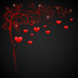 Valentine background with red hearts Royalty Free Stock Photos