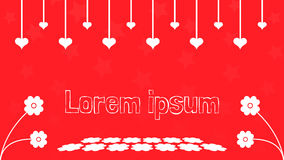 Valentine background on red theme. Flat design graphic resource royalty free illustration
