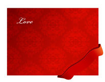 Valentine background with ribbon. Royalty Free Stock Image