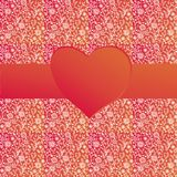 Valentine background with ribbon Royalty Free Stock Photography