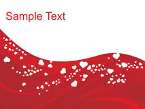 Valentine background for sample text Stock Photo