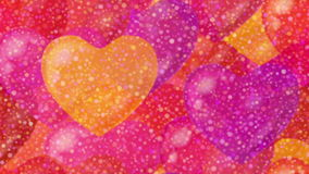 Valentine background, seamless loop stock video footage