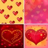 Valentine background, set Stock Photo
