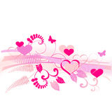 Valentine background with space for text. 2d vector Royalty Free Stock Photo