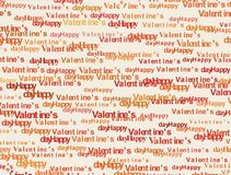 Valentine background from text Stock Photos