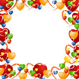 Valentine background with various hearts Stock Photo