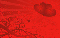 Valentine background, vector Royalty Free Stock Image