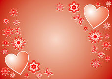 Valentine background, vector Royalty Free Stock Photo