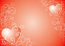 Valentine background, vector. Valentine abstract background, vector illustration Stock Image