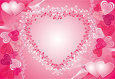 Valentine background, vector Royalty Free Stock Photography
