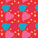 Seamless Pattern, backgrounds, Valentine Day heart. Valentine background vector abstracts Colorful hearts are seamless patterns Royalty Free Stock Images