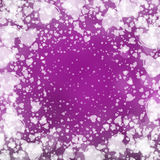 Valentine background, white hearts on purple Stock Photos
