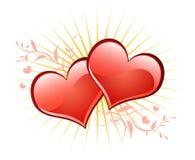 Valentine background wiht heart. Stock Image