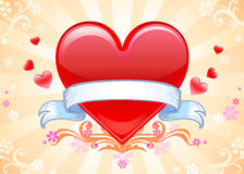 Valentine background wiht heart. Royalty Free Stock Photography
