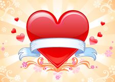 Valentine background wiht heart. Royalty Free Stock Photos