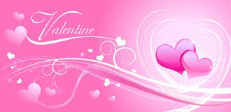 Valentine background wiht hearts Stock Photos