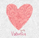 Valentine background wiht ornate heart Stock Photo