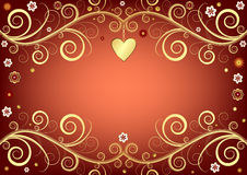 Valentine Background With Heart Royalty Free Stock Image