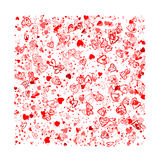 Valentine background for your design Stock Images