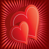 Valentine backgrounds. Two heats - valentine backgrounds elements Royalty Free Stock Images