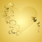 Valentine Backgrounds elements. 2d Illustration Royalty Free Stock Photo