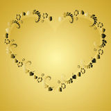 Valentine Backgrounds elements. 2d Illustration Royalty Free Stock Photos