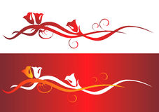 Valentine Backgrounds elements. 2d Illustration Stock Image
