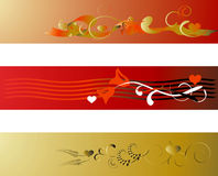 Valentine Backgrounds elements. 2d Illustration Stock Photography