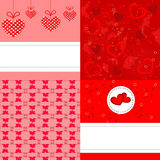 Valentine backgrounds Set Royalty Free Stock Images