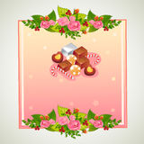 Valentine badge chocolate. Badge for valentine event. file in eps 10 file, with no gradient meshes,blends,opacity, stroke path,brushes.Also all elements grouped stock illustration