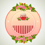 Valentine badge jar. Badge for valentine event. file in eps 10 file, with no gradient meshes, blends,opacity, stroke path,brushes. Also all elements grouped and Royalty Free Stock Photography
