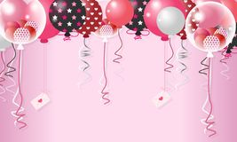 Valentine Balloon In Pink Background dulce - vector libre illustration