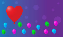 Valentine balloons background Stock Photo