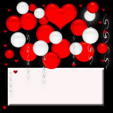 Valentine balloons poster Stock Photo