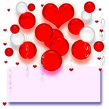 Valentine balloons poster Royalty Free Stock Image