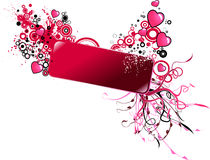 Valentine banner Stock Photography
