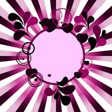 Valentine banner. Retro violet texture with burst Royalty Free Stock Photos