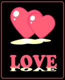 Valentine banner. With pink hearts Royalty Free Stock Photo