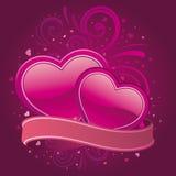 Valentine banner Stock Image
