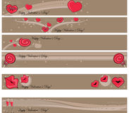 Valentine banner Royalty Free Stock Image