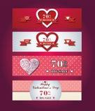 Valentine Banner Arkivfoto