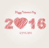 Valentine Banner Imágenes de archivo libres de regalías