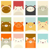 Valentine banner with cute cats Royalty Free Stock Image