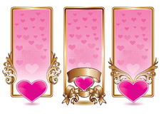 Valentine banner set Royalty Free Stock Photos