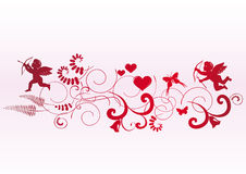 Valentine banner with space for text Stock Images